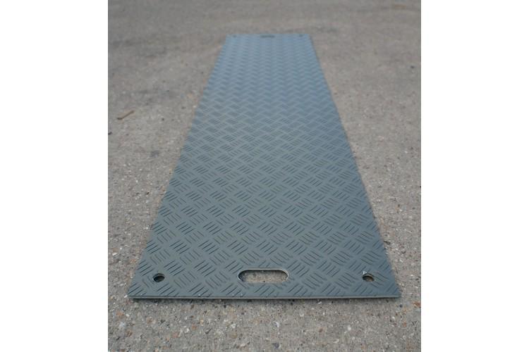 Used DuraMatt Lite Half-size Ground Protection Board - 1200mm x 550mm x 10mm - 16kg