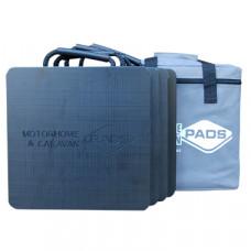 Flat Motorhome Stabiliser Pads (Pack Of 4) - 300mm x 300mm x 25mm - 2kg