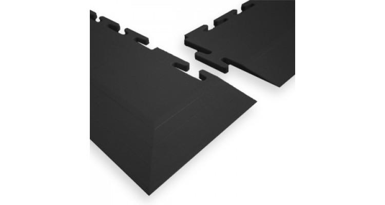 Ecotile 500/7 Interlocking PVC Flooring Tile Corner Ramp