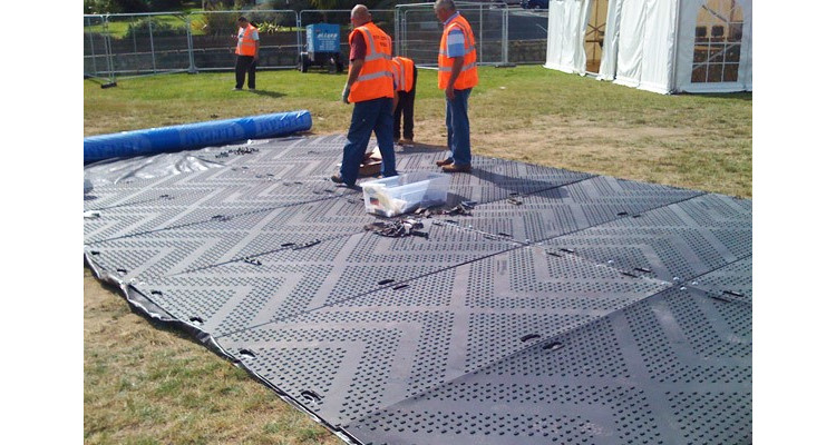 EuroMat Heavy Duty Ground Protection Mat - 2400mm x 1200mm x 12mm - 36kg