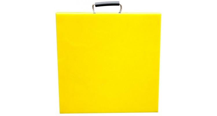 Hi-Viz Outrigger Pad – 500mm x 500mm x 40mm – 9.9kg