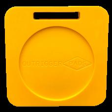 Hi-Viz Recessed Outrigger Pad – 400mm x 400mm x 50mm – 7.5kg