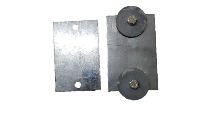 Square Metal Reinforcement Plates (steel)