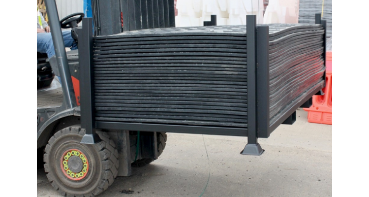 Ground Protection Mat Stillage - Holds 50 Mats
