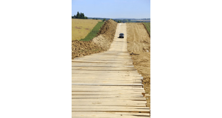 Hardwood Timber Heavy Duty Mat - 3m x 1m x 140mm - 445kg